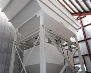 Aggregate Materials Storage, storage bins, silos