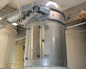 wamflo flanged round dust collectors, wam equipment, WAM Dry Batch Dust Collectors