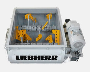 Liebherr Twin Shaft Mixer DW225, liebherr concrete mixer parts and components, model DW 2.25, florida