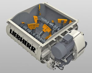 Liebherr Twin Shaft Mixer DW25, liebherr concrete mixer parts and components, model DW 2.5, florida