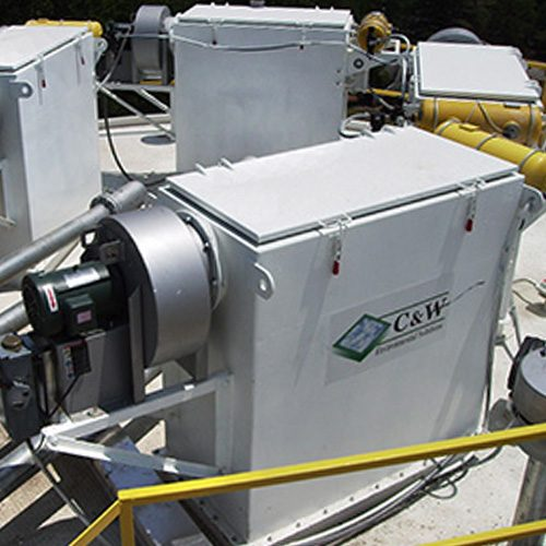 C&W Manufacturing CP Series (Cartridge Pulse) Silo Top Dust Collectors