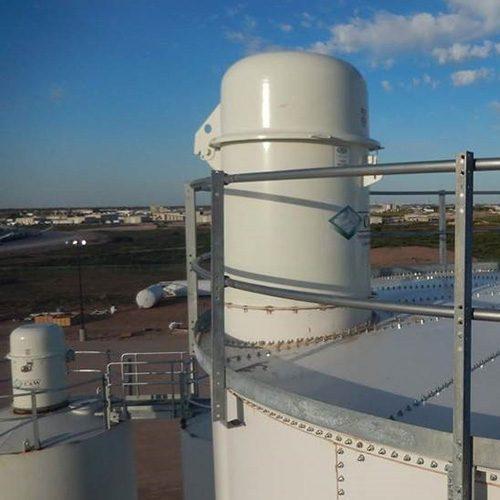 C&W Manufacturing LPR Series (Low Profile Round) Silo Top Dust Collectors