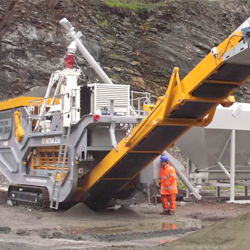 Rapid Trakmix Mobile Continuous Concrete Mixing Plant