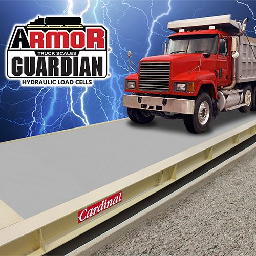 hydraulic truck scales with guardian load cells