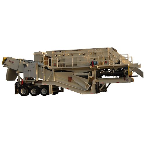 "Masaba Portable 7' x 20' TD Screen Over Twin 44"" Fine Material Washers"
